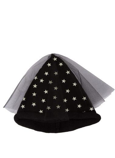DeFacto Yıldız Desenli Tül Detaylı Bere Siyah